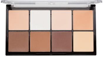 Makeup Revolution Ultra Pro HD Fair paleta do konturowania twarzy pudrowa