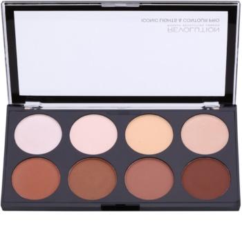 Makeup Revolution Iconic Lights and Countour Pro palete de cores para contorno de rosto