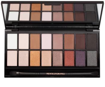 Makeup Revolution Iconic Pro 1 paleta de sombras  com espelho e aplicador