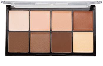 Makeup Revolution Ultra Pro HD Light Medium кремообразна палитра от контури за лице