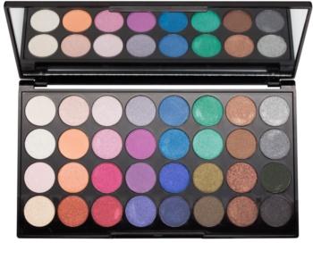 Makeup Revolution Mermaids Forever paleta de sombras de ojos con un espejo pequeño