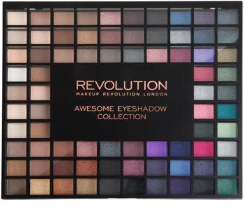 Makeup Revolution Nudes And Smoked Collection paleta očních stínů