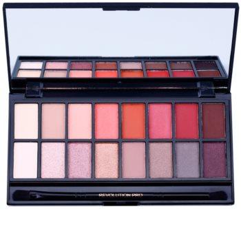 Makeup Revolution New-Trals vs Neutrals paleta farduri de ochi cu oglindă si aplicator