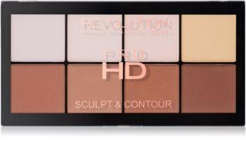 Makeup Revolution Pro HD Sculpt & Contour paleta para contornos faciales