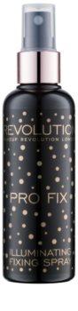 Makeup Revolution Pro Fix rozjasňujúci fixačný sprej