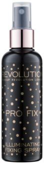 Makeup Revolution Pro Fix озаряващ фиксиращ спрей
