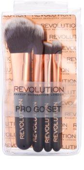 Makeup Revolution Pro Go Set mini conjunto de escovas kit de viagem