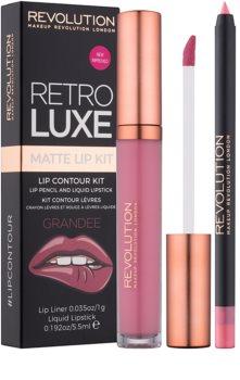 Makeup Revolution Retro Luxe matná sada na rty