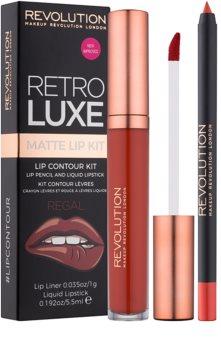 Makeup Revolution Retro Luxe матов комплект за устни