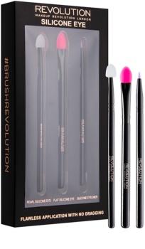 Makeup Revolution Silicone Eye Silicone Brush Set for Eye Area