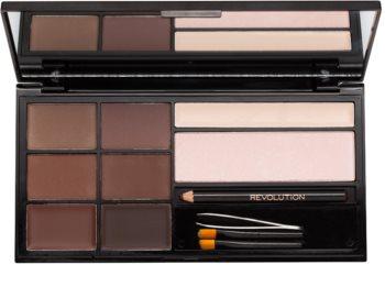 Makeup Revolution Ultra Brow paletta a szemöldök sminkeléséhez