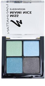 Manhattan Miss Miami Nice paleta pastelových očních stínů