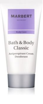 Marbert Bath & Body Classic desodorante en crema para mujer