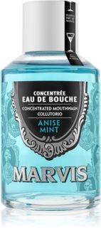 Marvis Anise Mint bain de bouche concentré pour une haleine fraîche