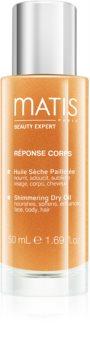 MATIS Paris Réponse Corps Shimmering Dry Oil сухо масло с блестящи частици за лице, тяло и коса