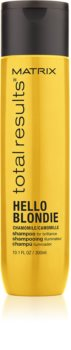 Matrix Total Results Hello Blondie champô de proteção para cabelo loiro e grisalho