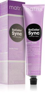 Matrix SoColor Sync Pre-Bonded Acidic Toner Translucent zure toner voor het Haar