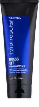 Matrix Total Results Brass Off přirozeně neutralizující maska pro odbarvené vlasy