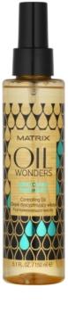 Matrix Oil Wonders Amazonian Murumuru óleo nutritivo  para brilho do cabelo ondulado encaracolado