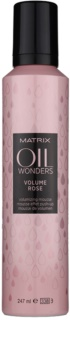 Matrix Oil Wonders Volume Rose espuma de cabelo para dar volume