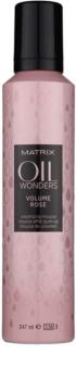 Matrix Oil Wonders Volume Rose espuma para el cabello para dar volumen