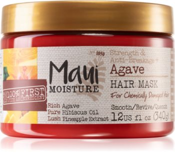 Maui Moisture Strength & Anti-Breakage + Agave erősítő maszk sérült, vegyileg kezelt hajra