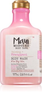 Maui Moisture Calming + Frangipani успокояващ душ гел за суха кожа