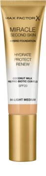Max Factor Miracle Second Skin hydratisierendes cremiges Make-up SPF 20