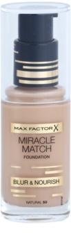 Max Factor Miracle Match podkład w płynie o dzłałaniu nawilżającym
