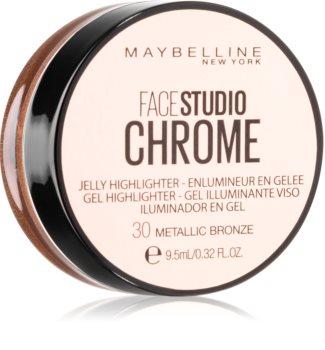 Maybelline Face Studio Chrome Jelly Highlighter gelový rozjasňovač