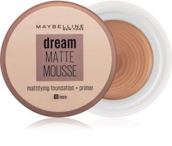 Maybelline Dream Matte Mousse матиращ фон дьо тен