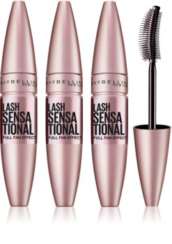 Maybelline Lash Sensational mascara allongeant pour des cils pleins 3 pcs