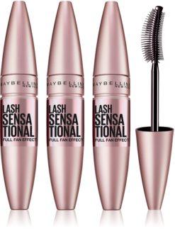 Maybelline Lash Sensational Verlängernde Mascara für voluminöse Wimpern 3 pc