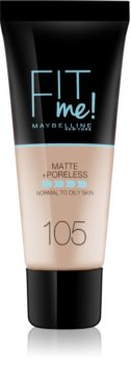 Maybelline Fit Me! Matte+Poreless matirajoči tekoči puder za normalno in mastno kožo