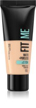 Maybelline Fit Me! Matte+Poreless Mattierendes Foundation für die normale bis fettige Gesichtshaut