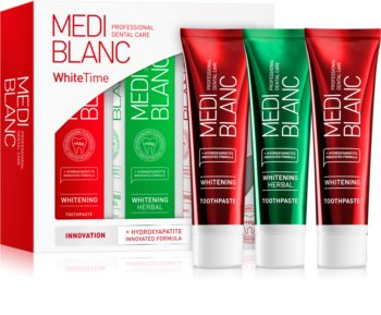 MEDIBLANC Dental Care White Time Set conjunto de cuidado dental (para dentes brancos radiantes)