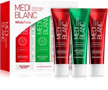 MEDIBLANC Dental Care White Time Set Hammashoitosetti (Helmiäisvalkoisille Hampaille)