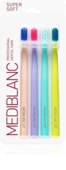 MEDIBLANC 4210 SUPER SOFT Superblød tandbørste 4 stk