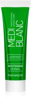MEDIBLANC Whitening Herbal зубна паста на основі лікарських рослин з відбілюючим ефектом