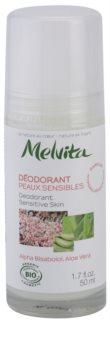 Melvita Les Essentiels Desodorizante Roll-On sem amoníaco para pele sensível