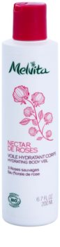Melvita Nectar de Roses leite corporal leve  com efeito hidratante
