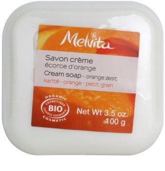 Melvita Savon jabón con textura de crema con manteca de karité