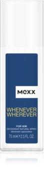 Mexx Whenever Wherever deodorante con diffusore per uomo