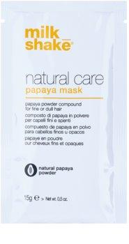 Milk Shake Natural Care Papaya mascarilla regeneradora para cabello con papaya