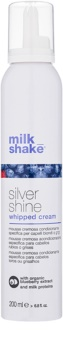 Milk Shake Silver Shine Cream Mousse for Blond Hair for Yellow Tones Neutralization