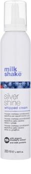 Milk Shake Silver Shine Krämig mousse för blont hår för neutralisering av gula toner