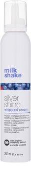 Milk Shake Silver Shine krémes hab szőke hajra semlegesíti a sárgás tónusokat