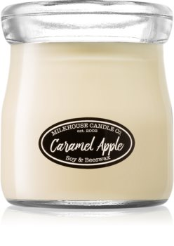Milkhouse Candle Co. Creamery Caramel Apple scented candle Cream Jar