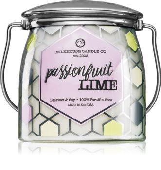 Milkhouse Candle Co. Creamery Passionfruit Lime duftlys Smørkrukke