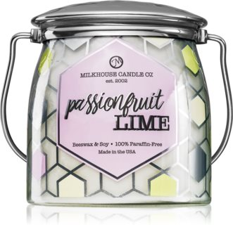 Milkhouse Candle Co. Creamery Passionfruit Lime mirisna svijeća Butter Jar